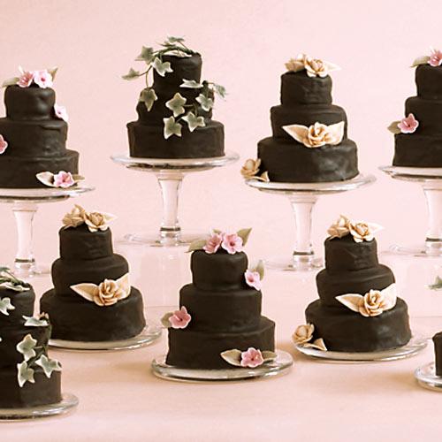 Tiny 3 Tier Square Wedding Cakes