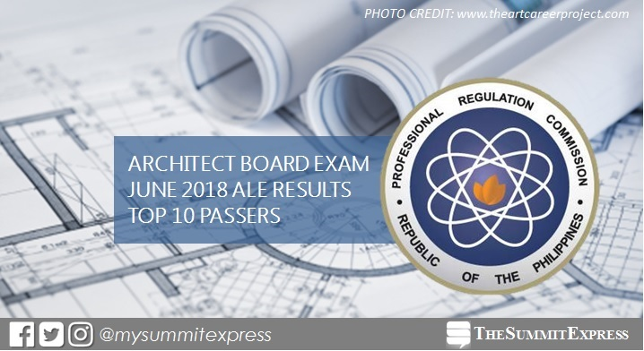 RESULT: June 2018 Architecture board exam top 10 passers