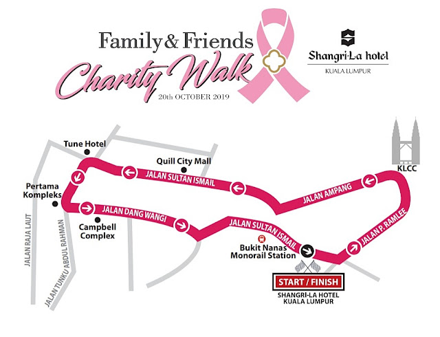 Shangri-La Hotel Kuala Lumpur, Shangri-La Hotel, Family & Friends Charity Walk 2019, Charity Walk 2019, Fitness, Pink October, Breast Cancer Awareness, Lifestyle