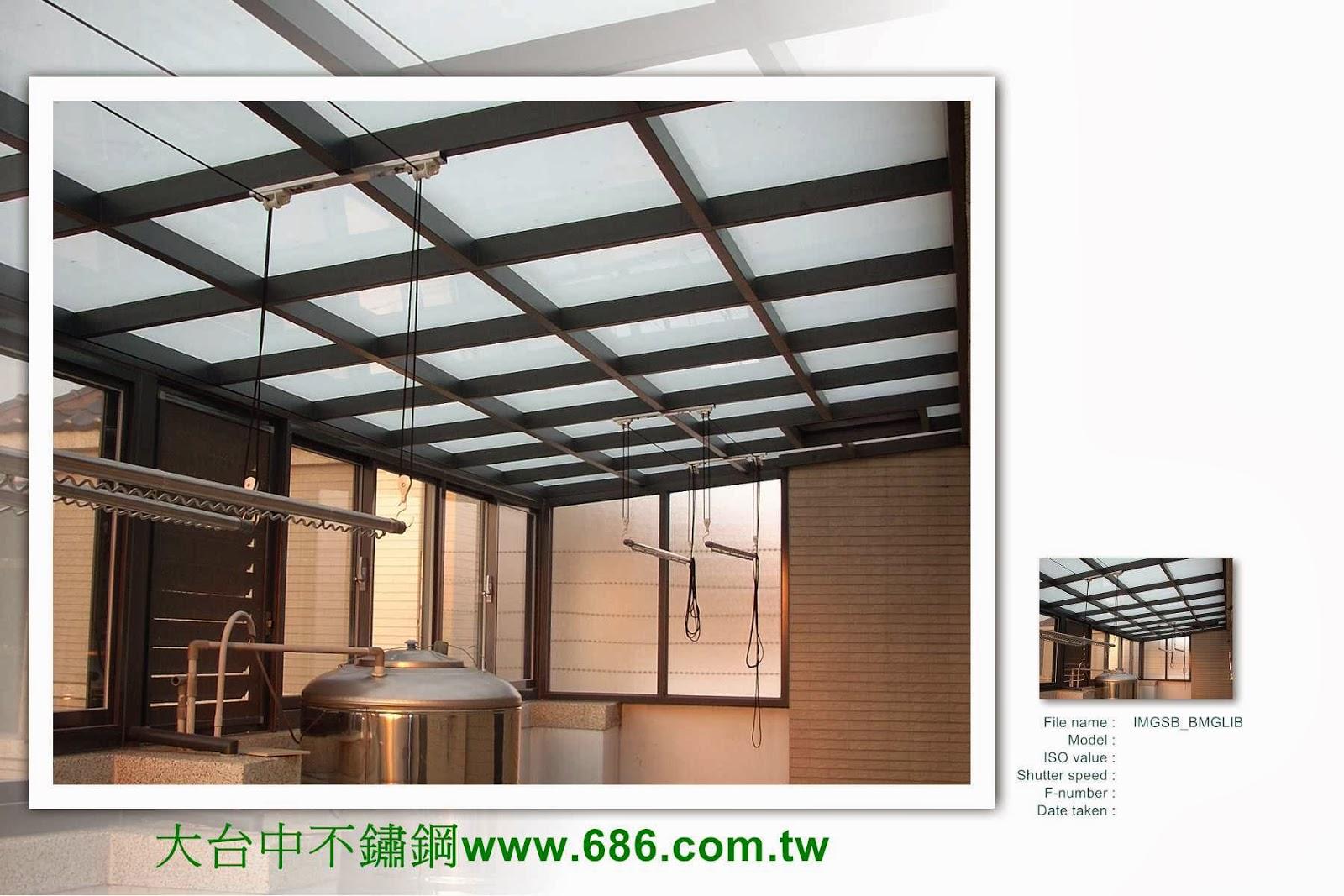 2.大台中採光罩玻璃屋遮雨棚鐵皮屋工程