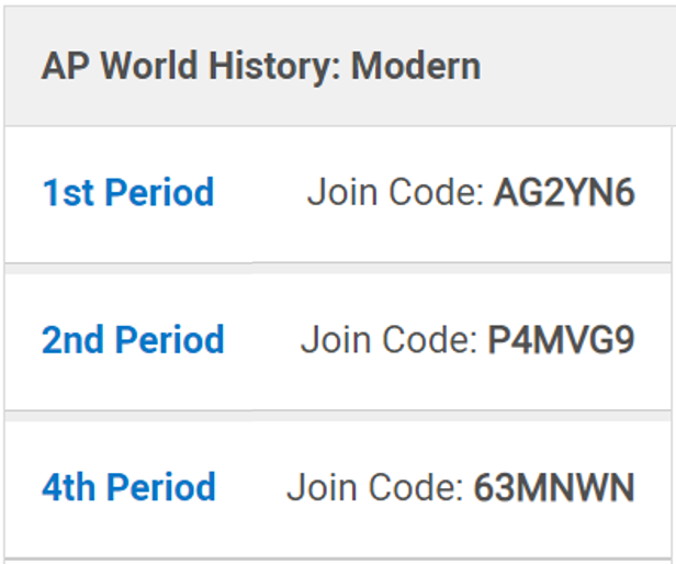 Coach Roberts' APWH Blog
