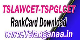 TS Telangana TSLAWCET-TSPGLCET 2017 RankCard Download