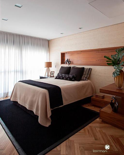 cabeceira-moderna-dormitório-casal- arquitetura-decoração