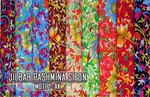 Grosir jilbab pashmina sifon motif terbaru harga murah