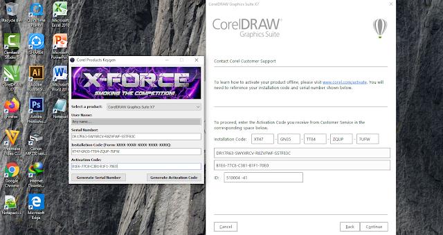 aktivasi offline corel draw x7