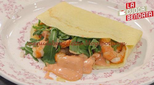 La Cuoca Bendata - Crepes con gamberi e salsa rosa ricetta Parodi
