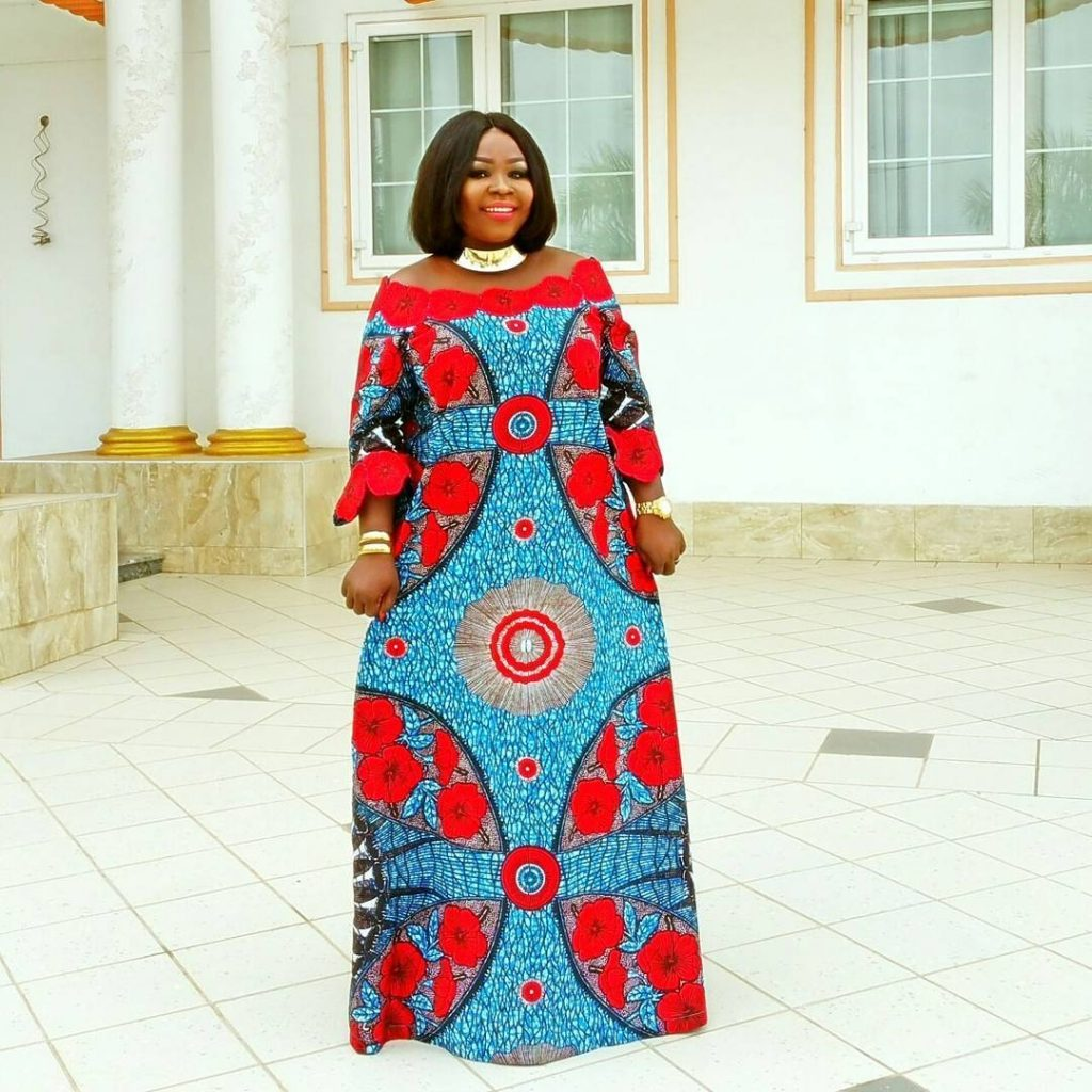Red Combination Ankara And Lace Styles Simple Ankara Gown Dezango