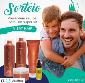 Sorteio Kit Dia dos Pais 2020 Visat Hair