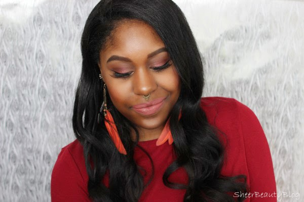 PICTURE OF SOFT RED AND BROWN MAKEUP