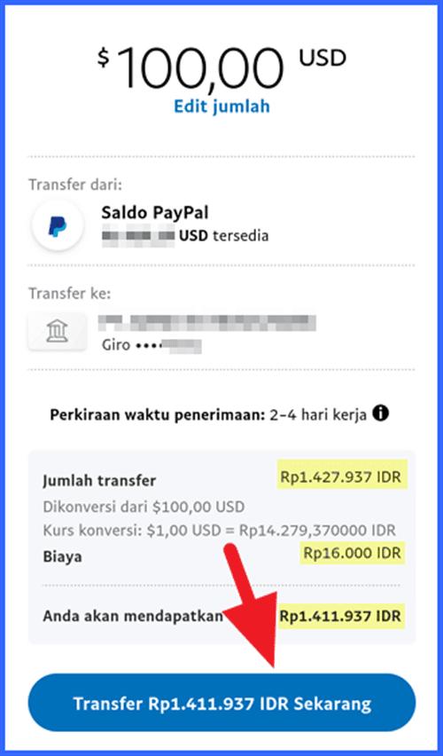 Transfer Paypal ke Dana