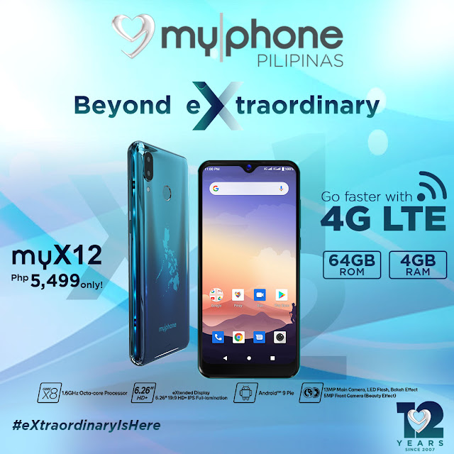 MyPhone myX12 with 4G LTE