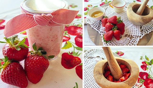 Cara Membuat Masker Strawberry
