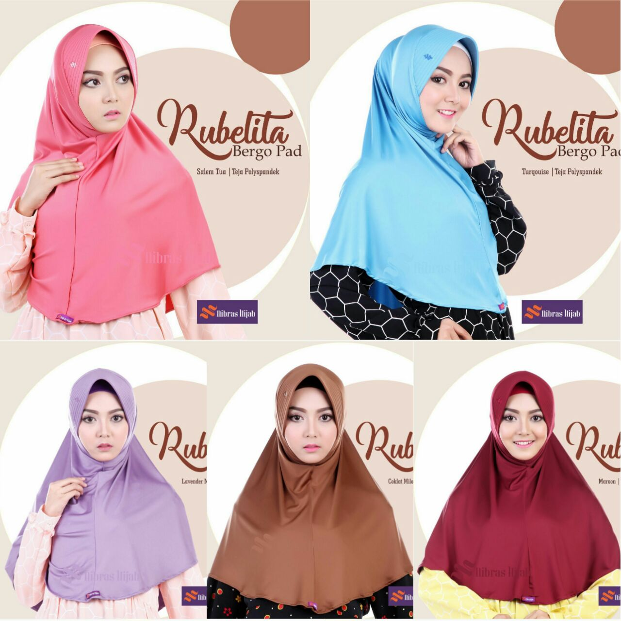 Koleksi Nibras Hijab Terbaru Rubelita Bergo Pad