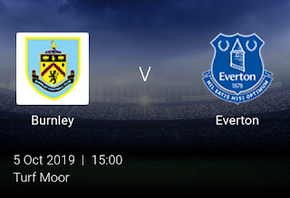 LIVE MATCH: Burnley Vs Everton Premier League 05/10/2019
