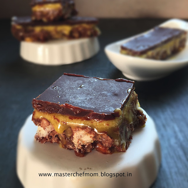Nanaimo Bars Recipe ( Eggless)