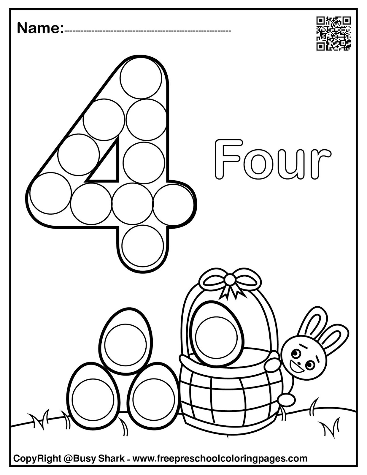 Set Of 123 Easter Dot Marker Free Pages