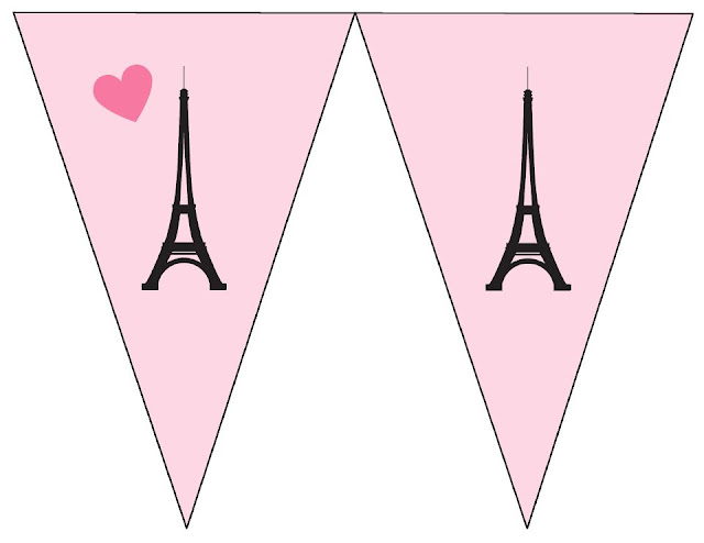 Paris Free Printable Banners.