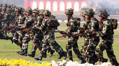 India has the world's third largest active army, after USA and China