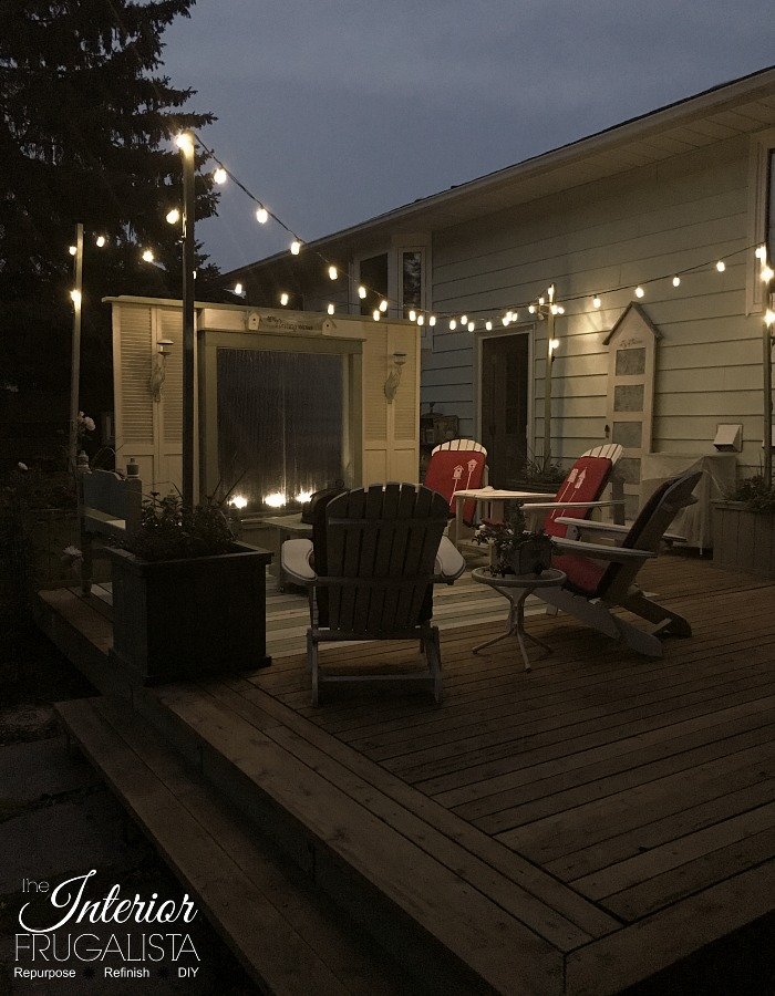 Budget Friendly Deck Makeover Reveal String Lights1