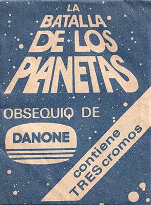 Sobre cromos La batalla de los planetas Danone