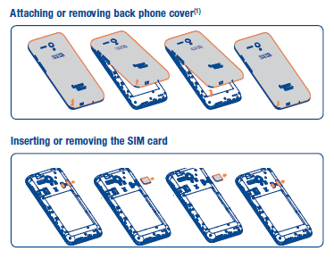 Inserting or removing the SIM card