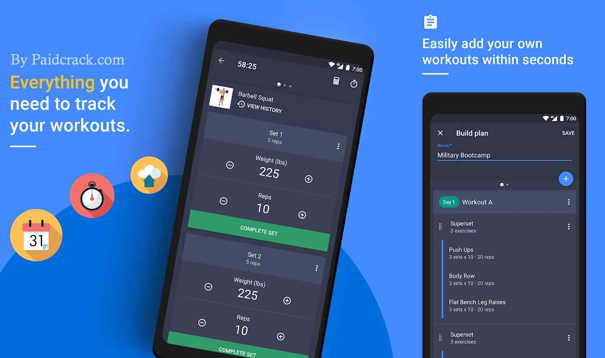 Gym Workout Tracker & Planner for Weight Lifting Premium Apk 1.40.0