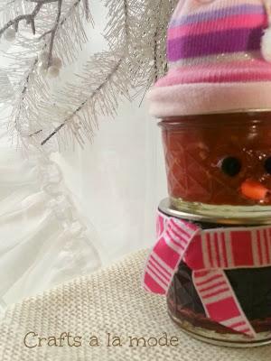 Jam Jar Snowman {Crafts a la Mode}