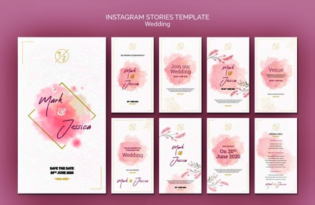 template ig for wedding invitation