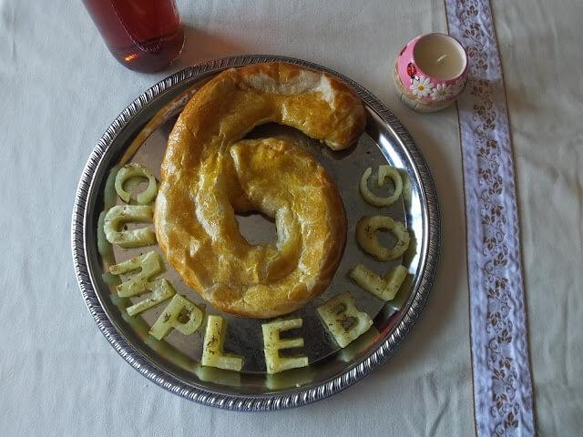 receta de pastel de puerros y patatas al tomillo