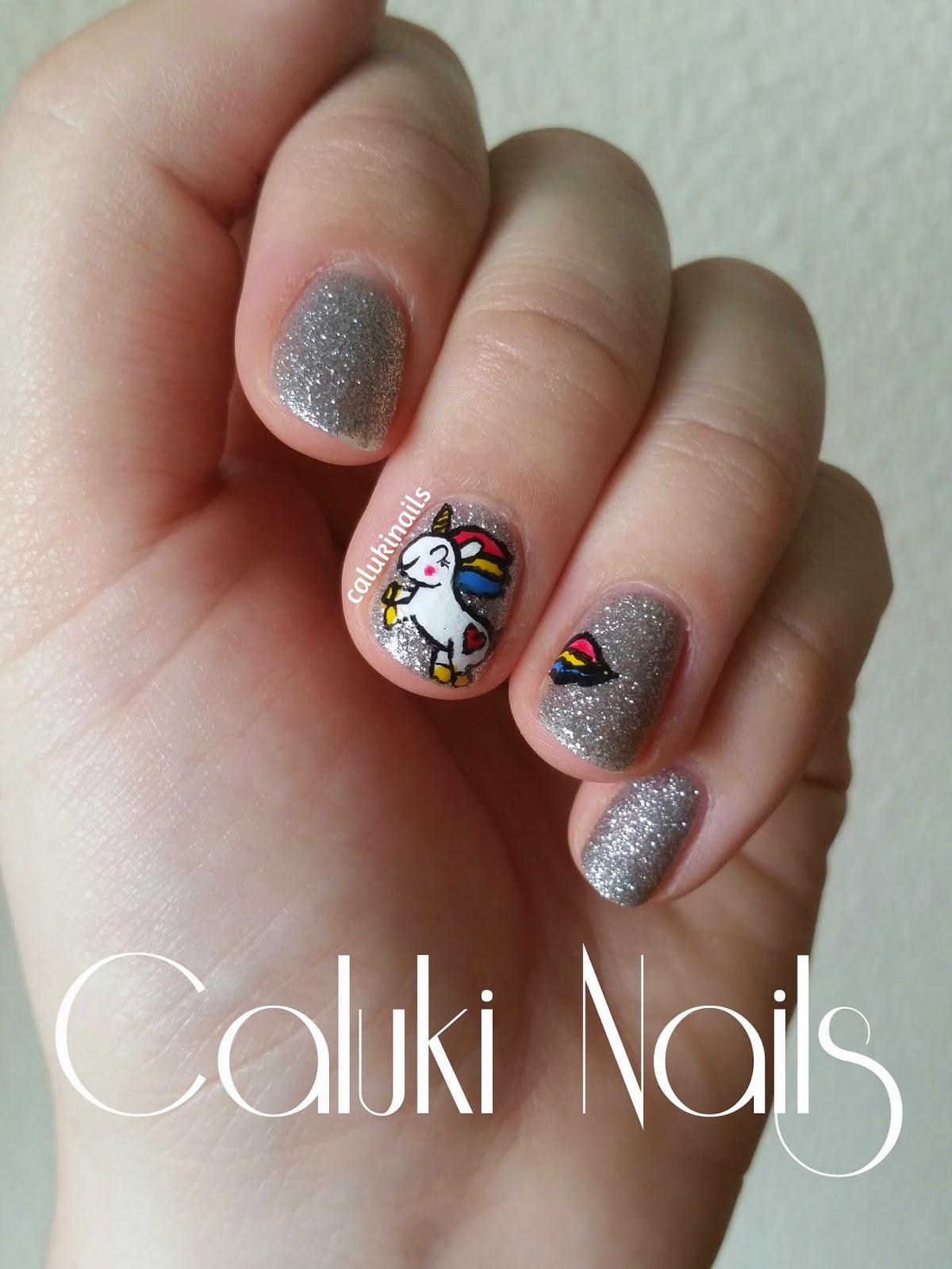 Caluki Nails Nail Art Unicornio Magnífica Masglo