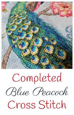Blue Peacock Cross Stich