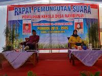 Rapat Pemungutan Suara Pemilihan Kepala Desa Rambipuji Tahun 2019 Resmi Dibuka