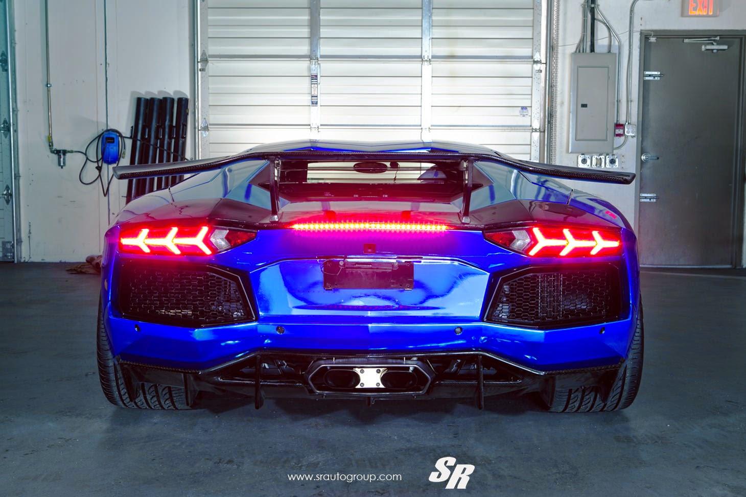 awesome chrome blue lamborghini aventador - Lamborghini Aventador Blue Chrome