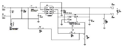 High Efficiency Step-Up Converter Circuit Diagram using L6920DA IC