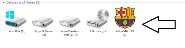 Cara mengubah icon flashdisk