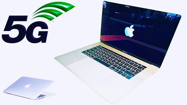تعلن شركة آبل عن جهاز الجديد MacBook في عام 2020 الذي يحتوي على 5G وهي المرة الأولى التي توفر فيها أجهزة كمبيوتر Apple المحمولة اتصالًا خلويًا.    تعلن شركة آبل أنها تحاول استخدام لوحة هوائي 5G بدلاً من المعدن الذي سيتم استخدامه تقليديًا. هذا قد يعني استقبالًا وسرعات أفضل وتشير بذالك أنه قد يكون أسرع  مرتين  ومن الواضح أن ذلك سيكون فائدة كبيرة