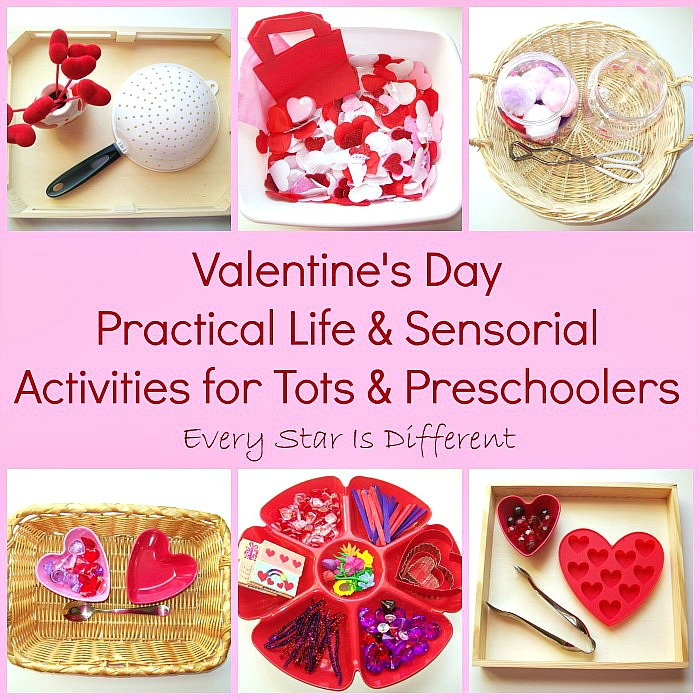 valentine's day practical life & sensorial activities for tots, Ideas