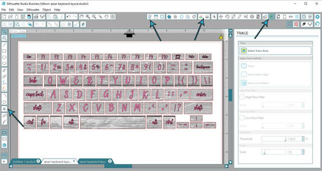 Custom keyboard stickers – Designed to be Crafty