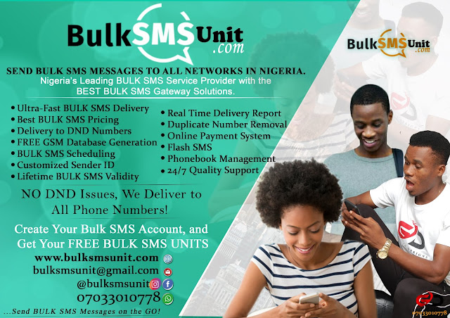 BulkSmsUnit - The Smartest, Fastest, Most Reliable and Affordable Bulk SMS Service Provider in Nigeria