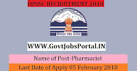 Himachal Pradesh Staff Selection Commission Recruitment 2018– 142 Pharmacist