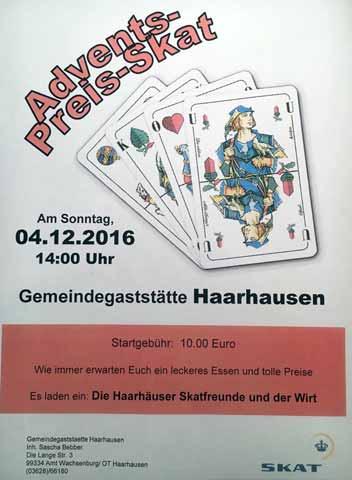 Advents-Preisskat Haarhausen 2016