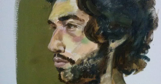 "Quick sketch from life ""Pedro Fernandes"", A3, Oil on canvas."
