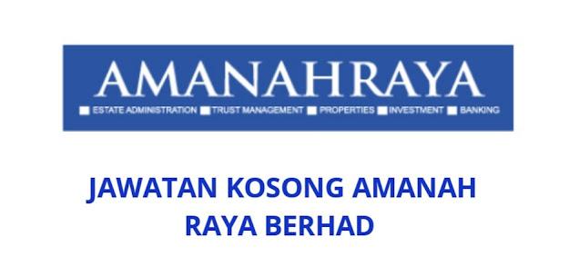 Jawatan Kosong Amanah Raya Berhad 2021 (ARB)