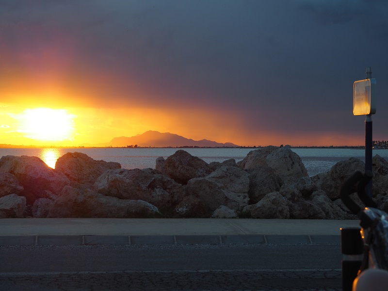 Sun setting over the sea, Santa Pola