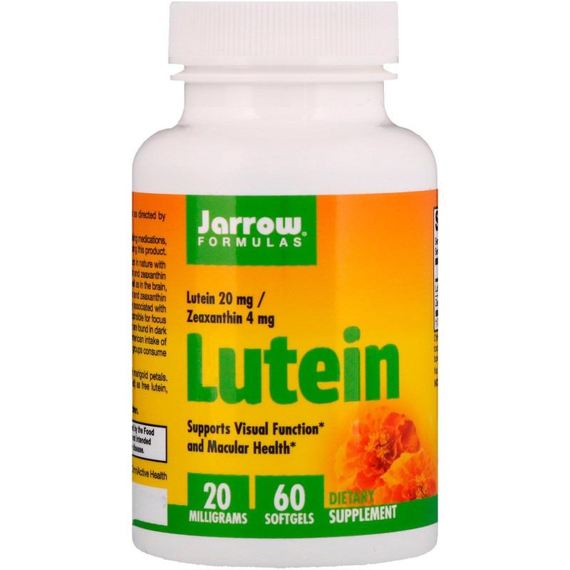 Jarrow Formulas, Лютеин, 20 мг, 60 мягких таблеток