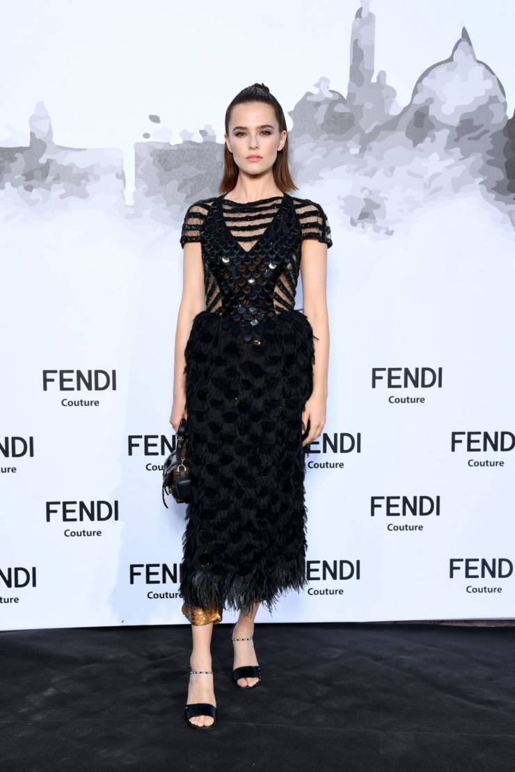 Zoey Deutch At Fendi Couture Fall Winter Cocktail in Rome