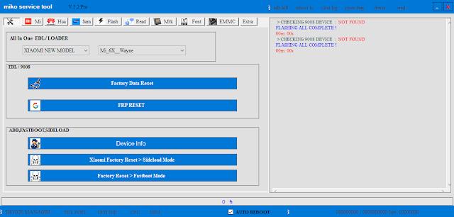 Miko Service Tool V5.2 Pro | SAMSUNG VIVO MI HUAWEI OPPO | A3S | Frp Lock | Remove Mi Cloud