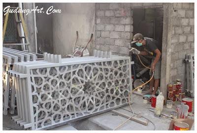 Railing Masjid Aluminium