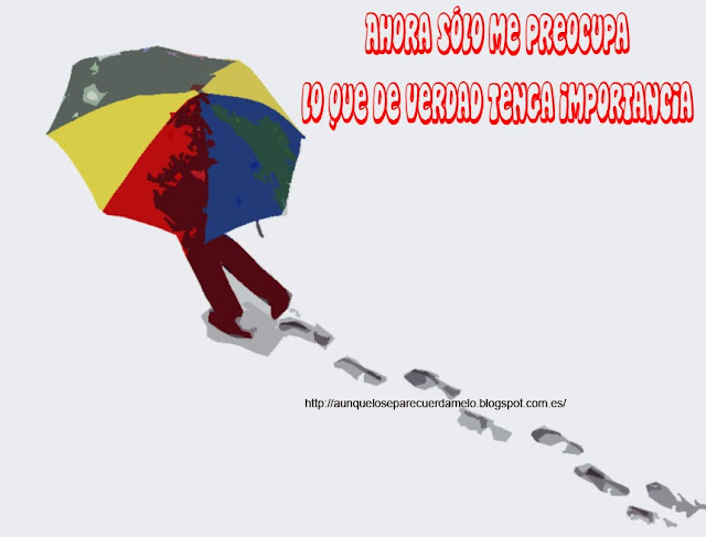 ilustracion el molino de amelie con paraguas y reflexion