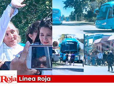 Despilfarradora inscripción de Cristina en Chetumal al mero estilo del PRI. Llevó ACARREADOS en camiones turísticos para que le aplaudan